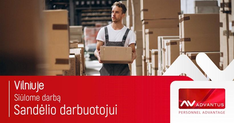 Sandėlio darbuotojas - prekių tiekėjas, UAB Advantus