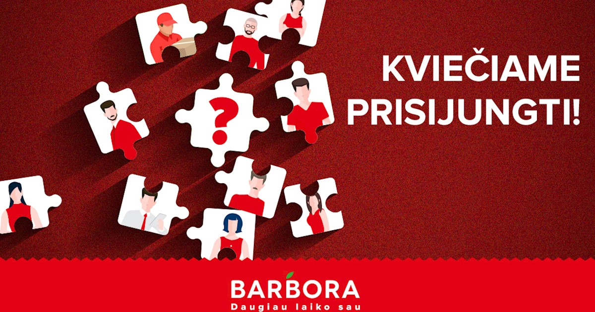 """Prekių surinkėjas (-a) Klaipėdoje (PLC BANGINIS), UAB """"Barbora"""""""