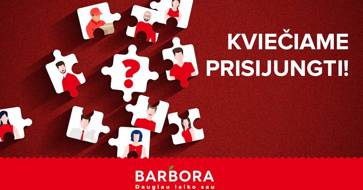 """Prekių surinkėja (-s) Vilniuje AKROPOLYJE, UAB """"Barbora"""""""